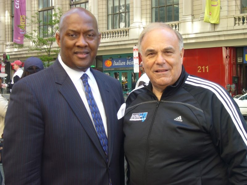 Dwight Evans and Governor Rendell