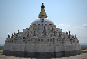 Kizhinginsky District - Dzharun Khashor, the largest stupa in the Republic of Buryatia, is located in Kizhinginsky District