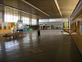 Transport in Kyrgyzstan - Most of the intercity travelers having switched from the big state-run buses to minivans, the palatial halls of Bishkek's West Bus Terminal remain mostly deserted