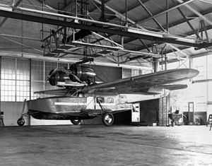 Douglas Dolphin - Douglas OA-4A with tricycle landing gear at Langley