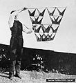 Early design of a Tetrahedron kite cell, by Alexander Graham Bell.jpg