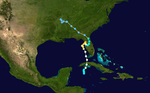 Rainfall map of Hurricane Easy