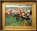 Edgar degas, il campo da corsa, fantini amatoriali presso una vettura, 1876-87 ca. 01.JPG