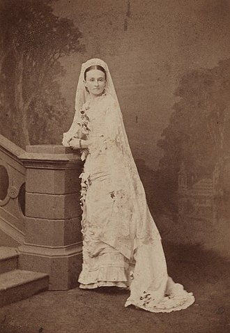 Edith Cowan - Cowan in her wedding dress
