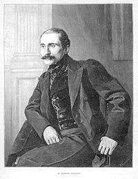 Edmond Rostand à l'époque de la première de Cyrano de Bergerac, en décembre 1897.