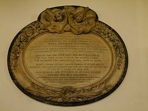 Edward Holmes Baldock - Memorial, St Pancras New Church, London