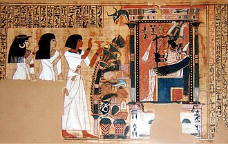 Culture of Egypt - Sample of a Book of the Dead of the scribe Nebqed, c. 1300 BC.