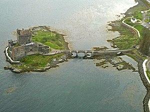 Eilean Donan - Aerial view of Eilean Donan