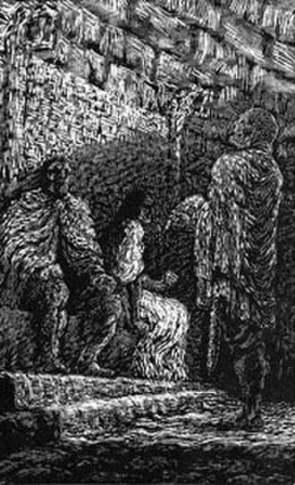 Eric Bloodaxe - Eric Bloodaxe, seated, and Gunnhild are confronted by Egill Skallagrimsson.