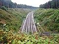 Eisenbahnstrecke zum Flughafen - panoramio.jpg