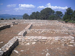 Ilercavones - Castellet de Banyoles Iberian village remains near Tivissa.