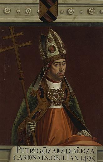Pedro González de Mendoza - The cardinal Pedro González de Mendoza by Matías Moreno (Museo del Prado)