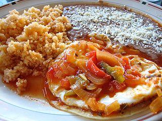 Huevos rancheros egg cuisine dish