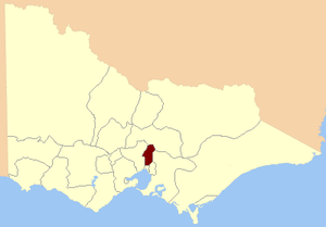 Electoral district of East Bourke - Location in Victoria