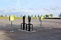 Electric car chargers at The Rowley Mile horse racing track, Newmarket, UK.jpg