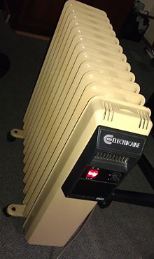 Oil heater wikipedia for Electric fireplace wiki