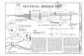 Elevation-Section - Sentinel Bridge, Spanning Merced River on Sentinel Bridge Crossover Road, Yosemite Village, Mariposa County, CA HAER CAL,22-YOSEM,15- (sheet 1 of 2).png