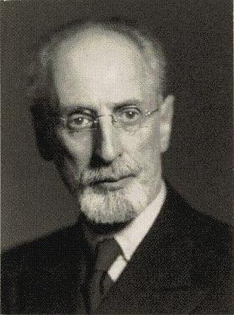 Stockholm School of Economics - Professor Eli Heckscher, founder of economic history as an independent academic discipline.