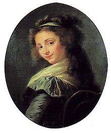 Elisabeth Mara. Gemälde von Elisabeth Vigée-Lebrun (Quelle: Wikimedia)