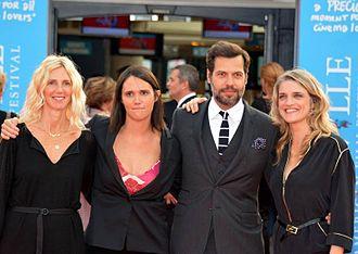 Number One Fan (film) - Sandrine Kiberlain, director Jeanne Herry, Laurent Lafitte and Olivia Côte  at the 2014 Deauville American Film Festival.