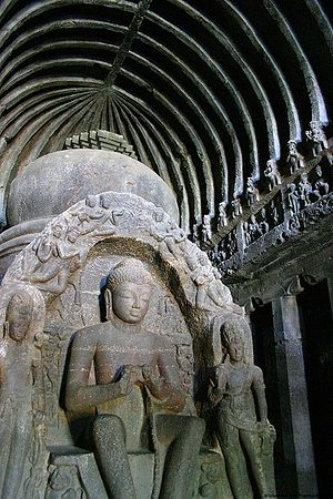 Ellora caves. Cave 10. The most famou...