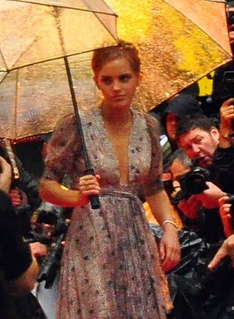 Watson at the premiere of Half-Blood Prince in July 2009 Emma Watson at Harry Potter and the Half-Blood Prince Premiere 06 cropped.jpg