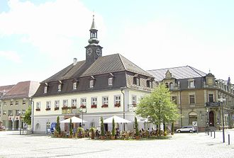 Emmendingen - The main square of Emmendingen and the old town hall. This building is now used as the German Diary Archive.