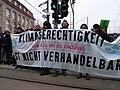 Ende Gelände blockade of the Invalidenstraße next to the Invalidenpark 11.jpg
