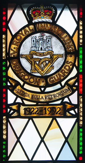 5th Royal Inniskilling Dragoon Guards - Memorial window at St Macartin's Cathedral, Enniskillen