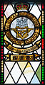 Enniskillen Cathedral of St. Macartin North Aisle Royal Inniskilling Dragoons Window Detail Insigna 1922-1992 2012 09 17.jpg