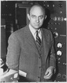 Enrico Fermi, Italian-American physicist, received the 1938 Nobel Prize in physics for identifying new elements and disc - NARA - 558578.tif