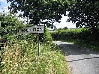 Croughton, Cheshire - Image: Entrance to Croughton