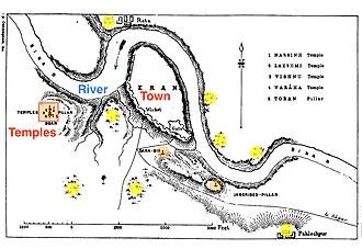 Eran - Eran archaeological site map, 1880 sketch