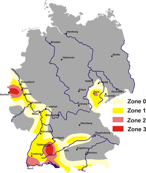 Bonndorf Graben - Earthquake zones