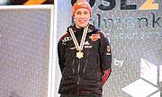 Eric Frenzel gold medal Oslo 2011 medal ceremony (nordic combined, Gundersen HS 106 + 10 km)