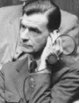 Ernst Wilhelm Bohle - Bohle on trial, 1947.