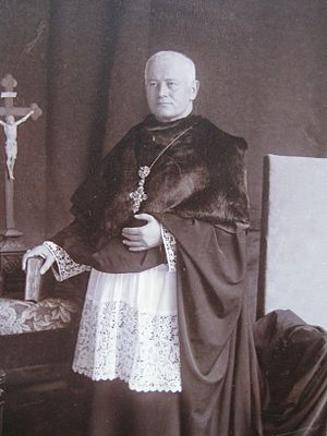 Beuron Archabbey - Benedictine arch Abbot Schober in Prelate Dress and Cappa Magna