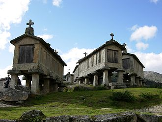 Peneda-Gerês National Park - The Espigueiros of Soajo, used by early settlers to warehouse and protect food crops