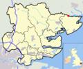 Essex outline highlighting Manningtree map.png
