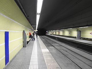 station of the Barcelona Metro on line 7