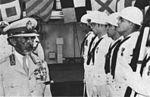 Ethiopian Emperor Haile Selassi I aboard USS La Salle (AGF-3) in 1973.jpg
