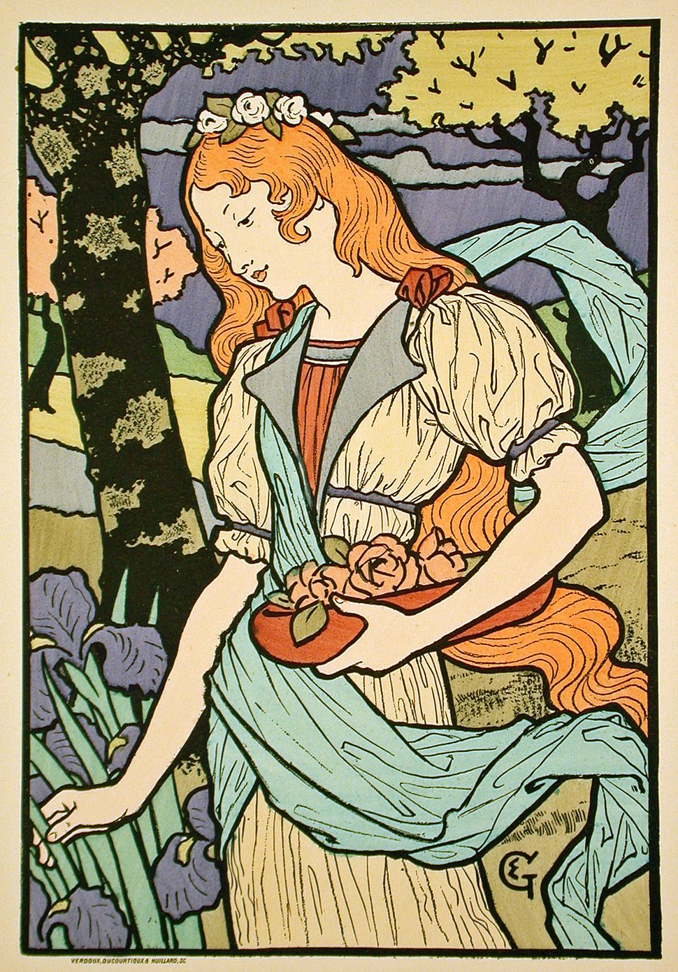 Eugene Grasset, poster for Grafton Galleries, 1893
