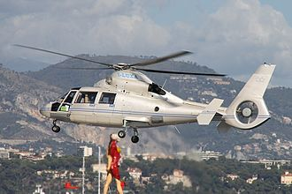 Eurocopter AS365 Dauphin - A Dauphin in flight, 2010