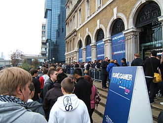 EGX (expo) - Outside the 2009 Eurogamer Expo at Old Billingsgate Market, London