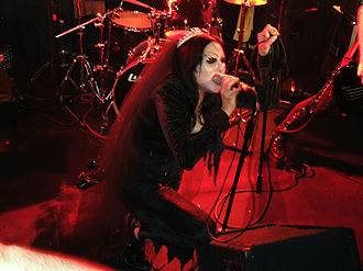 Eva O - Eva O with Christian Death 1334, live in Italy, November 23, 2007.