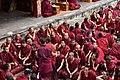 Examination of monks, Tashilhunpo Monastery, Shigatse, Tibet (3).jpg