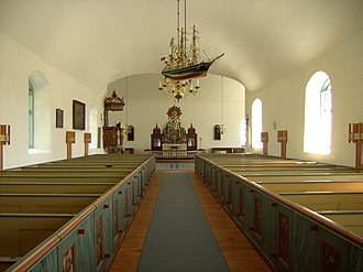 Fårö Church - Image: Fårö church inside 1