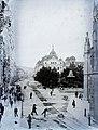 Fő tér (Hlavné namestie), Állami Színház, háttérben jobbra a Szentháromság-templom a Dómtól nézve. Fortepan 86994.jpg