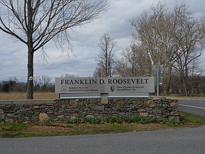 Franklin D. Roosevelt Presidential Library and Museum - Entrance To Franklin D. Roosevelt National Historic Site
