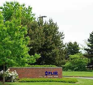 FLIR Systems - Entrance to company headquarters in Wilsonville, Oregon, which is adjacent to the Mentor Graphics campus.